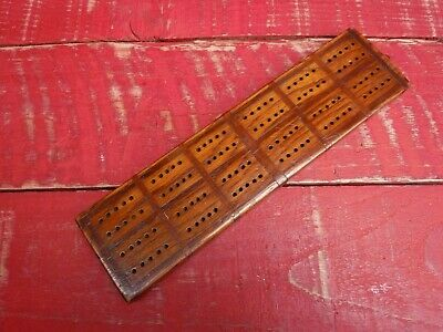 Vintage Wooden Cribbage Board, Mixed Woods • 7.99£