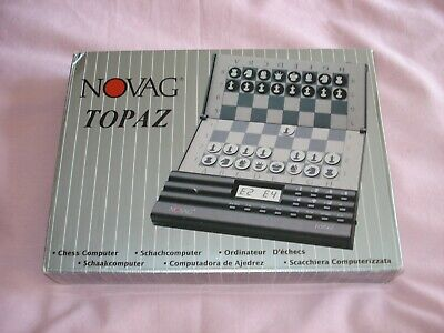 Novag Topaz Chess Computer Old Vintage Early 1990's • 43£