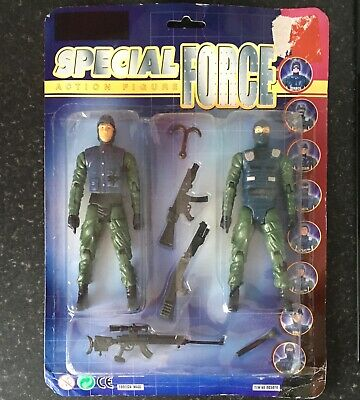 Vintage Special Force Action Figures X 2 With Accessories • 2.50£