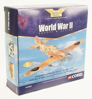 Corgi Aviation 1/72nd AA32003 Hawker Hurricane MKIID Western Desert NR MINT  • 22£