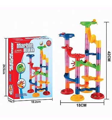 50 Piece Set Marble Race Run Kids Construction Game Toy  • 7.99£