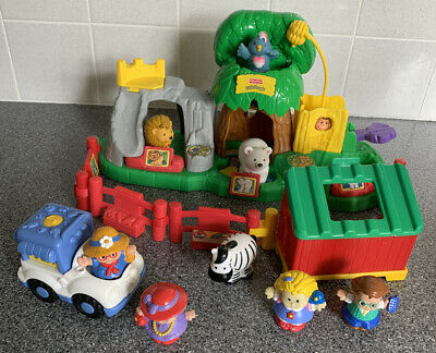 Fisher Price Little People Zoo Toy Playset With Animals Figures Icecream Sounds • 12£