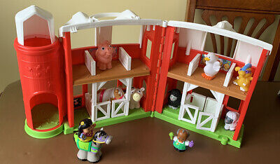Fisher Price Little People Farm Barn With Animals Toy Playset Retired • 12£