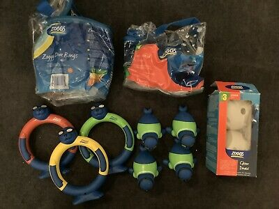 Zoggs Children Water Confidence Toys Zoggy Dive Rings Search & Rescue Glow Dives • 15£