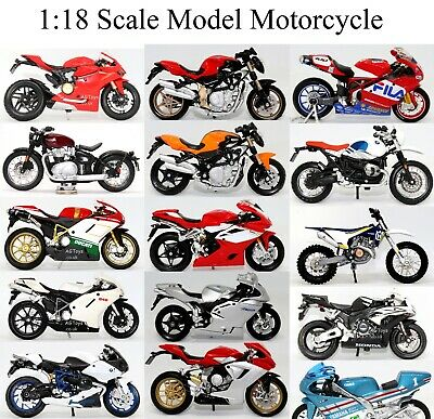 Motorcycle Motorbike Collection 1:18 Scale Die-cast Model Toy CHOOSE YOUR BIKE  • 12.99£