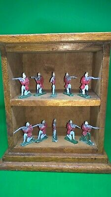 Vintage Lead Soldiers On Solid Wood Display Box. • 19.99£