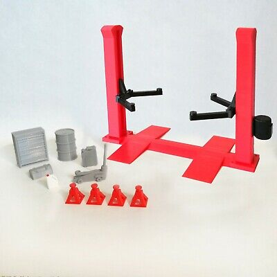 Car Garage Accessories For Diorama - 2 Post Car Lift & Other Items 1/25th Scale • 17.50£