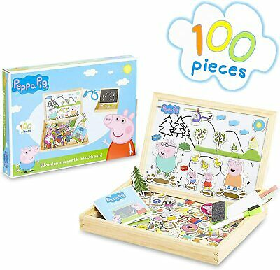Peppa Pig Wooden Magnetic Board Puzzle Game Educational Toy For Kids, Boys Girls • 17.81£