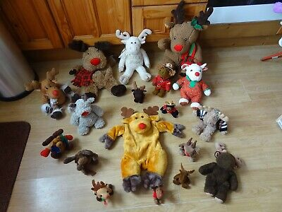 Bundle 18 X  Plush MOOSE & REINDEER Soft Toys 17 Ins High Max - CHOCOLATE MOOSE • 5.99£