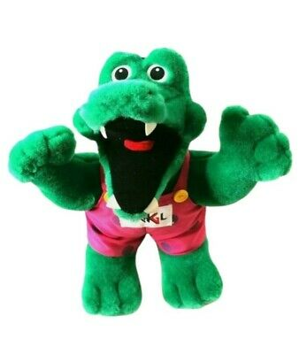 Standing Alligator/Crocodile Plush Toy In Overalls Made In Unterföhring • 29.99£
