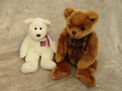 Ty Beanie Buddies 12  White Bear  Liberty  & Classic Collection 16  Brown Bear. • 24.99£