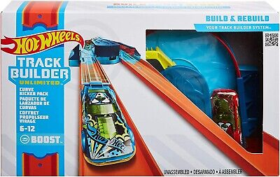 Hot Wheels GLC93 Track Builder Unlimited Curve Kicker Pack NEW • 14.99£
