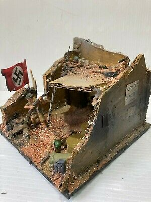 WW2 Hand Made Diorama - 1/32 Scale British Desert Rats In A Hold Out • 10.99£