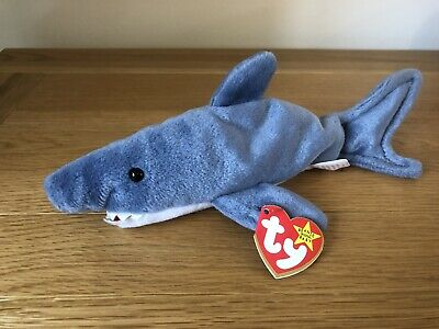 Ty Crunch The Shark Beanie Baby Brand New With Tags  • 9£