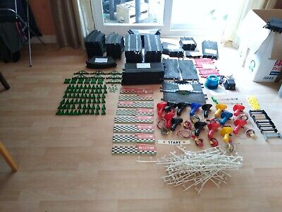 Vintage Scalextric Megalot Project. 150+ Track Pieces And Trackside Accessories. • 49.99£