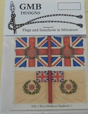 GMB Designs 28mm Scale Wargaming Flags For The British Napoleonic Units Various • 2.50£