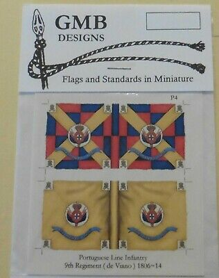 GMB Designs 28mm Scale Wargaming Flags Smaller Napoleonic Nations Various Units • 2.50£
