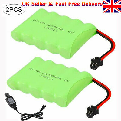 UK 2x 6V 700mAh Ni-MH AA Battery + USB Cable For Remote Control RC Car Vehicles • 10.98£