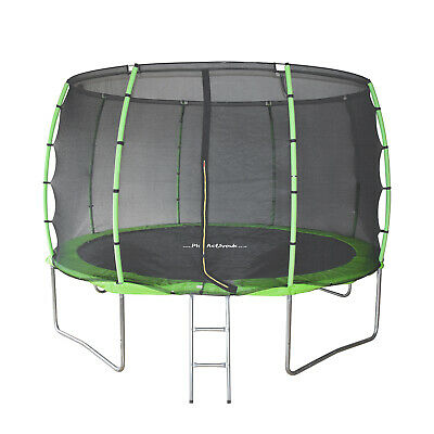 14FT Trampoline With FREE Safety Net Enclosure, Ladder, Rain Cover, + Shoe Bag  • 229.99£