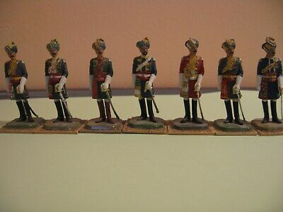 7 Vintage Indian Cavalry Officers • 65£