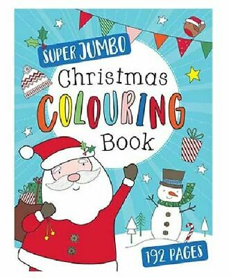 192 Pages A4 Kids Jumbo Christmas Colouring Book Childrens Activity Stocking Toy • 2.29£
