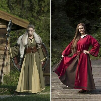 Medieval / Viking Womens Astrid Dress. Perfect For Re-enactment, Costume Or LARP • 47£