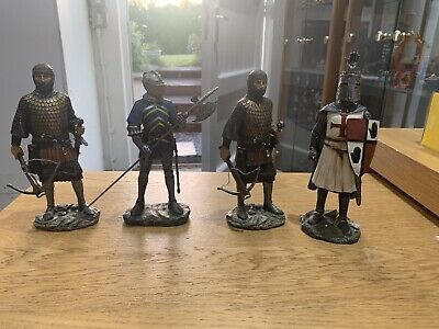 MEDIEVAL KNIGHTS FIGURE TEMPLAR CROSSBOW CRUSADES ARMOUR CASTLE Bundle X 4  • 44.99£