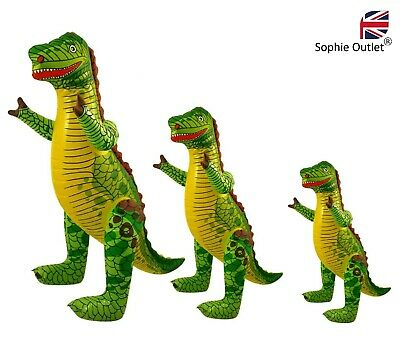 S / M / L INFLATABLE DINOSAUR Blow Up T-Rex Toy Dino Party Decor Kids Animal UK • 4.30£