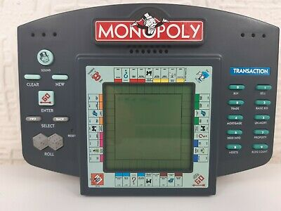 Vintage 1999 Monopoly Electronic Game By Hasbro Handheld - Working • 19.99£