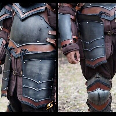 Metal Armour Rogue Tassets - Epic Dark Ideal For LARP Or Costume • 65£