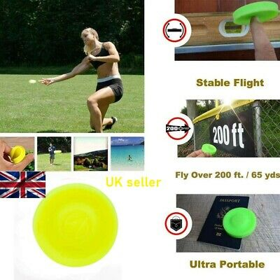 Premium Quality Silicone Flexible Mini Flying Disc Frisbee Like Gravity Disc. • 2.50£