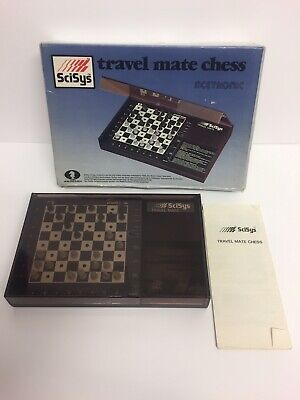 Vintage Scisys Acetronic Travel Mate Electronic Chess Game Boxed From 1983 • 24.99£