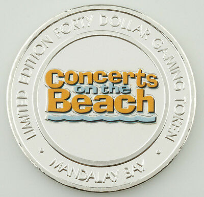 Mandalay Bay Concerts On The Beach Colorized Casino Gaming Token, Silver • 62.51£
