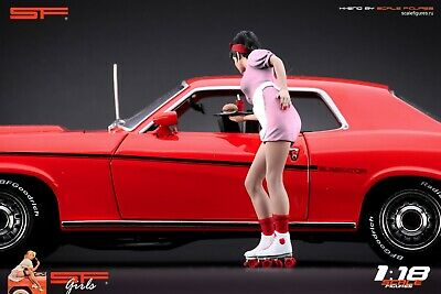 1:18 Waitress Girl  VERY RARE!!! Figurine , NO CARS !! For Diecast Cars By SF • 104.28£