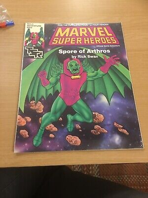 Marvel Super Heroes Spore Of Arthros Adventure Module TSR Roleplaying Game RPG • 11.50£