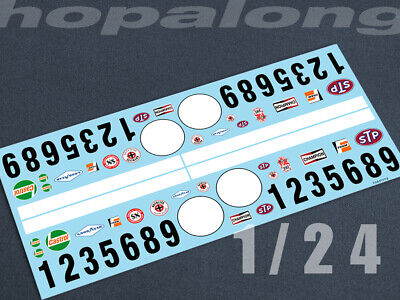 Scalextric/Slot Car 1/24 Waterslide Decals. Ts041c_w • 7.30£
