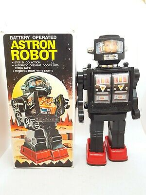 Vintage Hong Kong Plastic Astron Astronaut Robot Rare Boxed 1970s • 69.99£