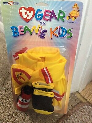 Ty Gear For Beanie Kids Fire Fighter Retro • 14.99£