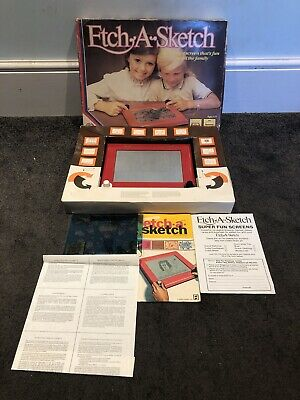 Rare Vintage Etch A Sketch Boxed With Instructions Fun Screen VGC • 29.95£