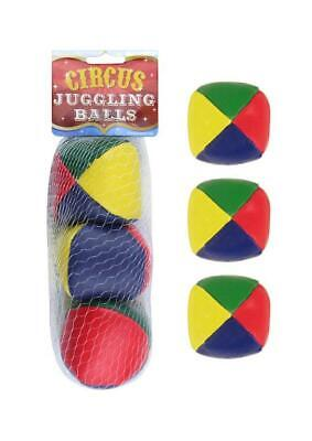 New Coloured Juggling Balls Learn To Juggle Set Of Three 3 Circus Toys  • 1.48£