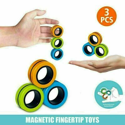 Fingears Magnetic Ring Toy Finger Fidget Spinner Stress Relief Kids Adult Toys • 2.65£