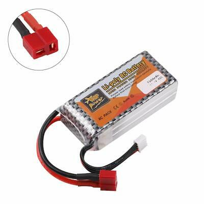 3S LiPo Battery 1500mAh 11.1V 40C T Plug For RC Car Airplane Helicopter Toy UK • 9.98£