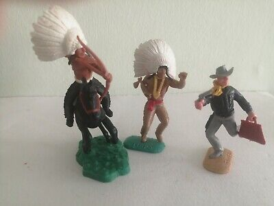Timpo Toys - Indians And Cowboy - Rare Figures  • 30£