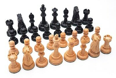 Vintage Large Jaques Staunton Weighted Boxwood Chess Set. • 170£