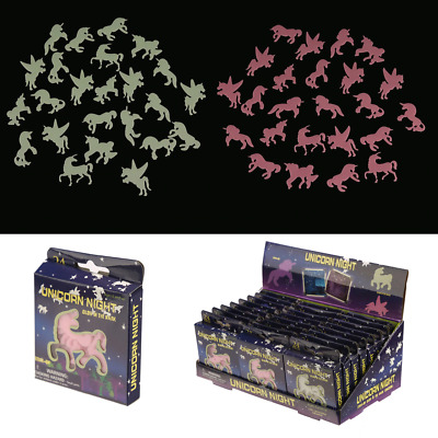 Glow In The Dark Unicorn Wall Stickers • 2£