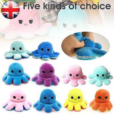 Double-Sided Flip Reversible Octopus Plush Toy Squid Stuffed Doll Toys • 7.99£