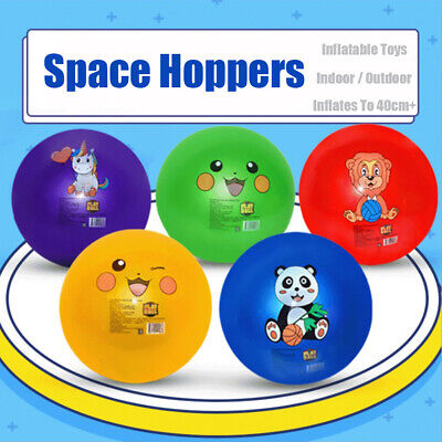 Large Space Hopper Inflatable Kids Outdoor Indoor Jumping Bounce Ball Multi Size • 5.59£