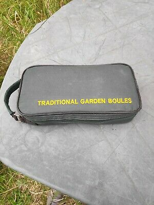 Traditional Garden Boules Metal With Jack, Measuring Cord & Carry Bag Game • 19.99£
