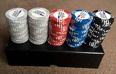 World Poker Tour Chips. 99 In A Box. Mixed Colours. • 12.99£
