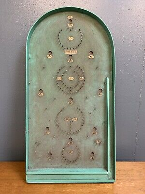 Vintage Chad Valley Silent Cork Faced Bagatelle Board Game & Ball Bearings • 15£